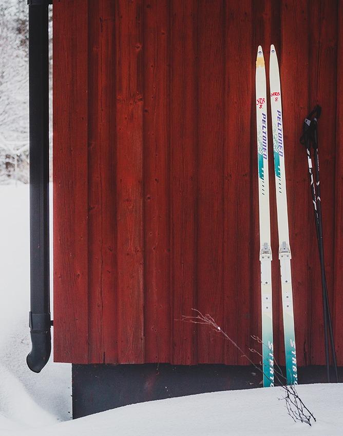 Skidor på Strömbäcks